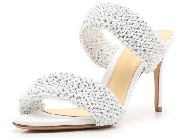 Alexandre Birman - Alessia 85mm Knitted Leather Slide Sandals