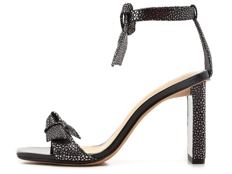 Alexandre Birman Clarita 85mm Graphite and Black Square Pillar Heel