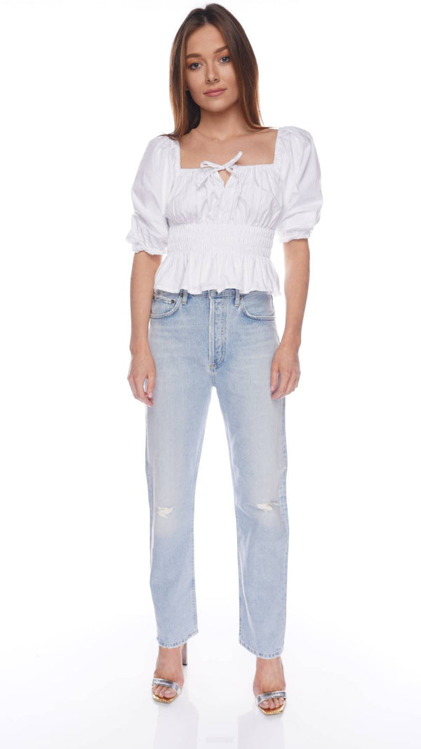 90'S Pinch Waist Flashback Straight-Leg Jeans