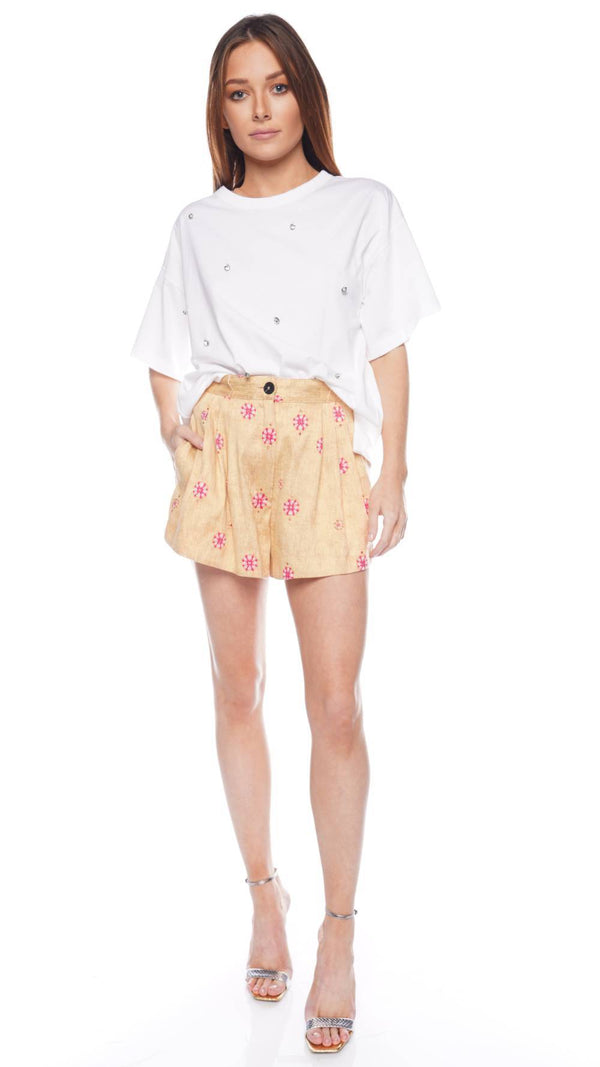 Cocktail Italiano Jacquard Ethnic Shorts