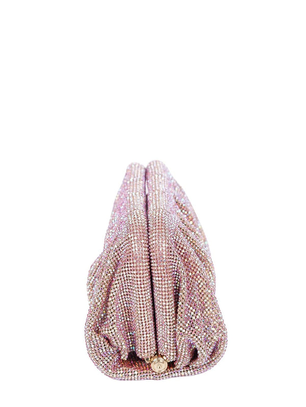 Benedetta Bruzziches - Venus Light Rose Petite Rhinestone Clutch