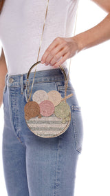 Coppetta Crystal Ice Cream Crossbody Bag