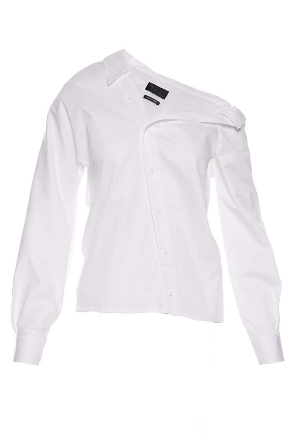 RtA - Maria White Asymmetrical Button Down
