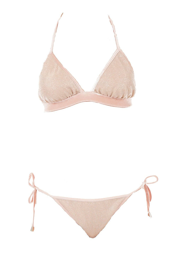 CHIO - Lurex and Velvet Triangle Bikini