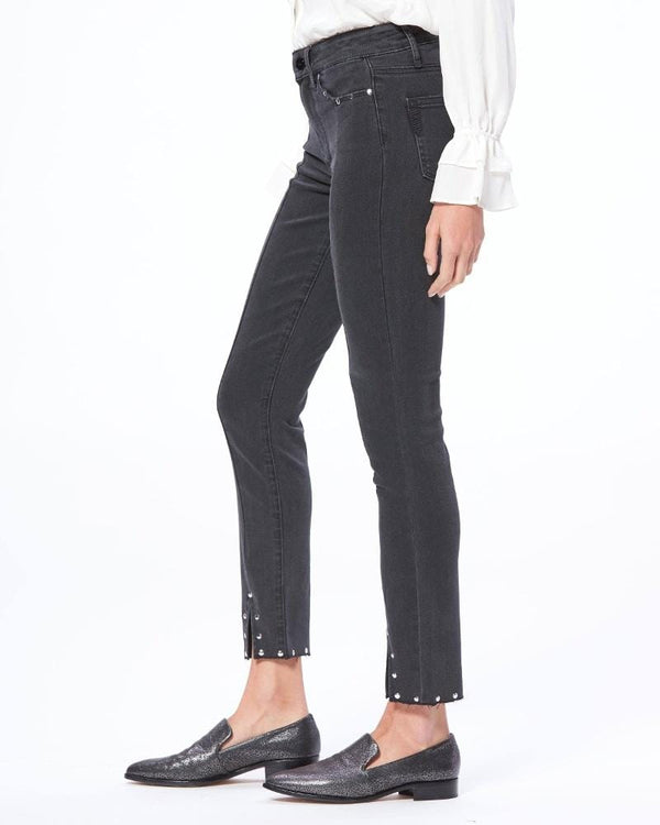 PAIGE - Hoxton Ankle Skinny Jean With Stud Detailing