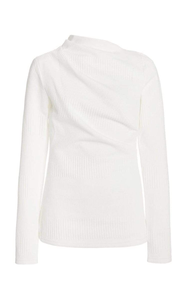 Acler - Parkfield Draped Long Sleeve Top