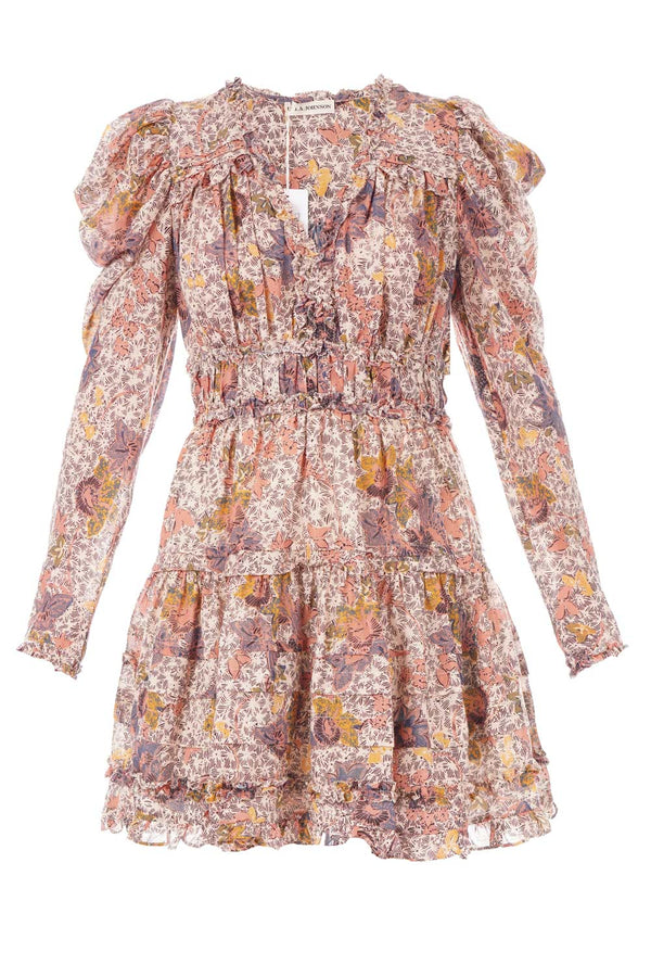 Ulla Johnson - Julie Floral Puff-Sleeve Mini Dress