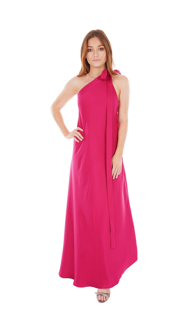 Florence One-Shoulder Asymmetrical Gown