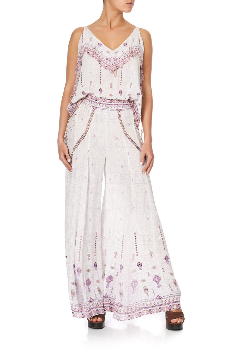 Camilla - Wide Leg Flares With Lace Up Side