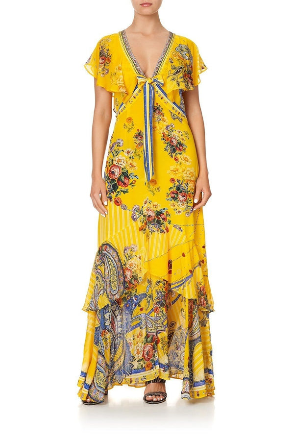 Own Muse Tie Front Maxi Dress with Split