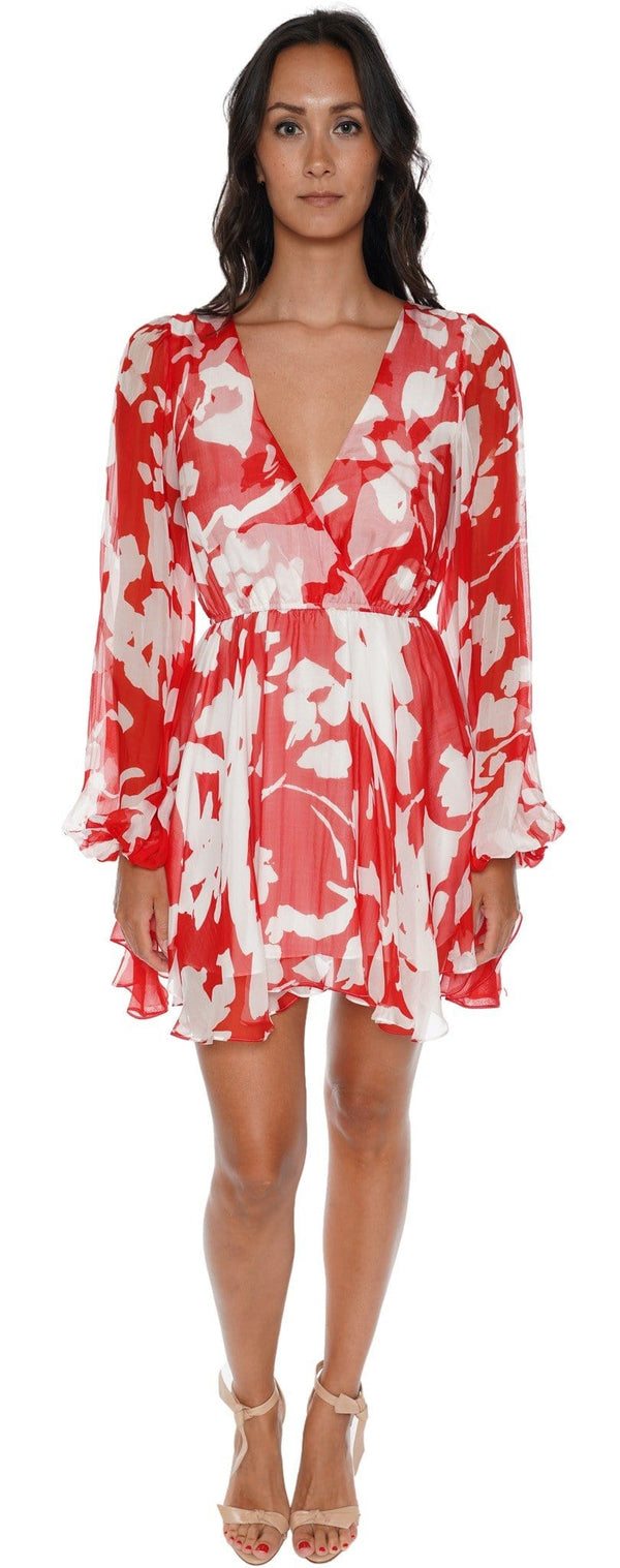 Olena Abstract Floral Mini Dress