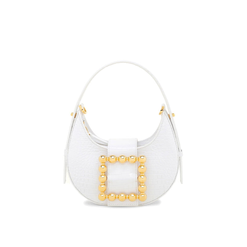 Les Petits Joueurs - Cindy Golden Buckle in White