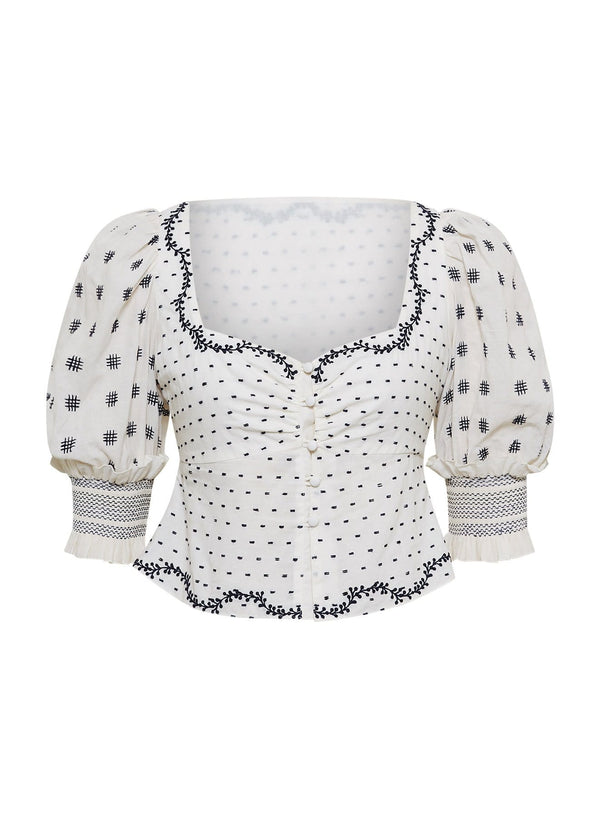 Jonathan Simkhai - Chrissy Bohemian Cotton Crop Top