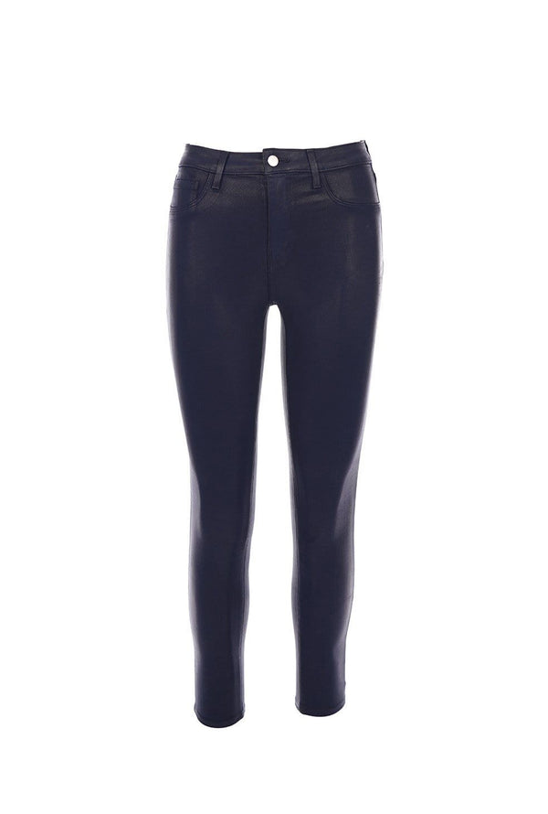 L'AGENCE - Margot Navy Coated High Rise Skinny Jean