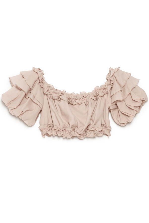Vilma Ruffle Crop Top
