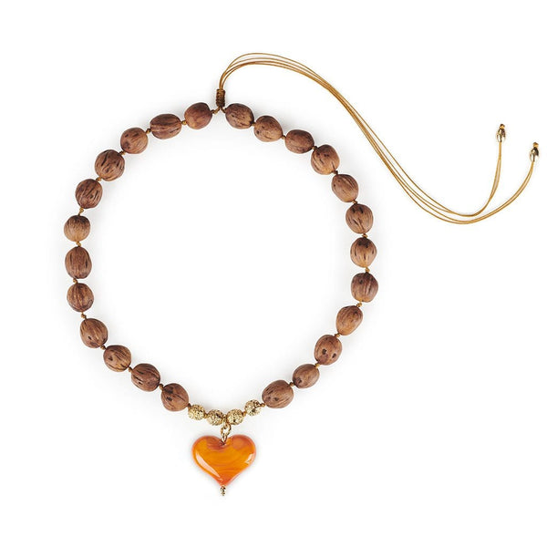 TOHUM - Cuore Resort Necklace With Orange Heart