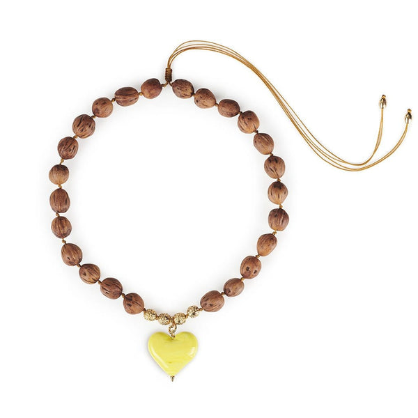 TOHUM - Cuore Resort Necklace With Yellow Heart