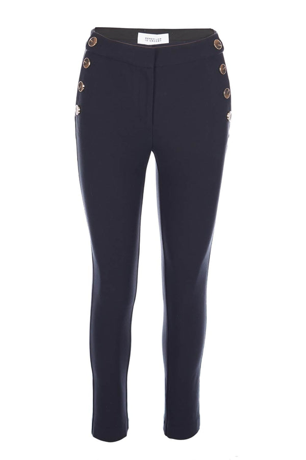 Derek Lam 10 Crosby Kelis Midnight Blue Straight Leg Sailor Pants