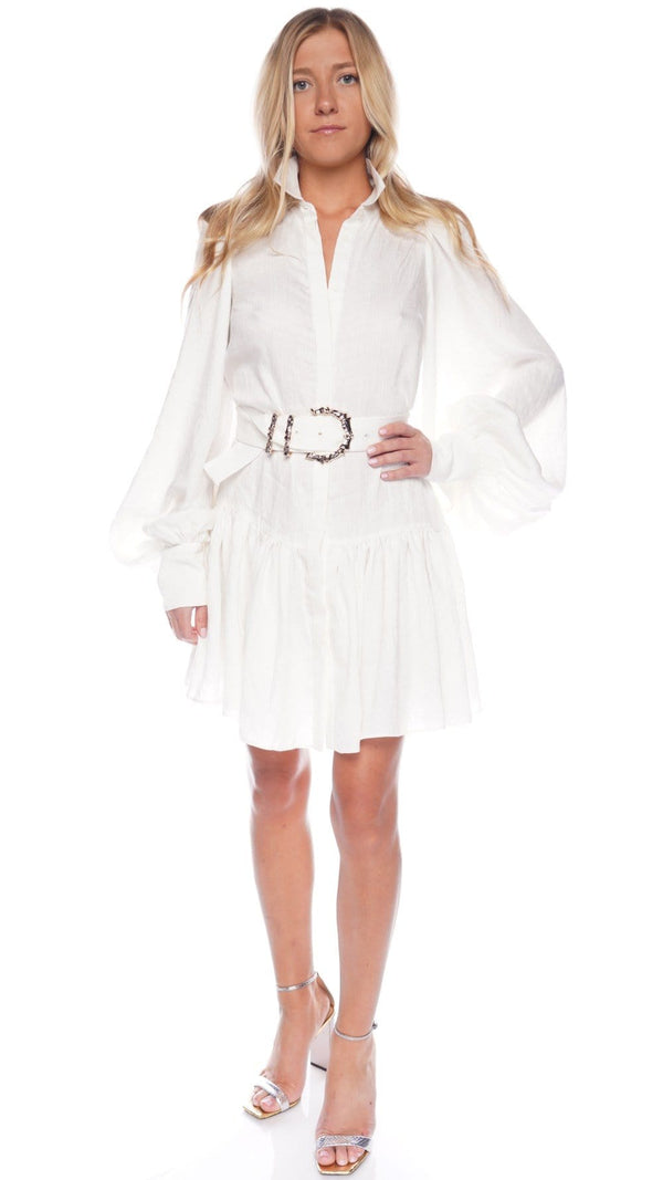 Sherwood Long Sleeve Belted Shirt Dress
