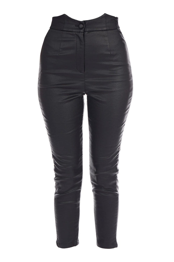 Retrofête - Tally Coated High Waisted Pants