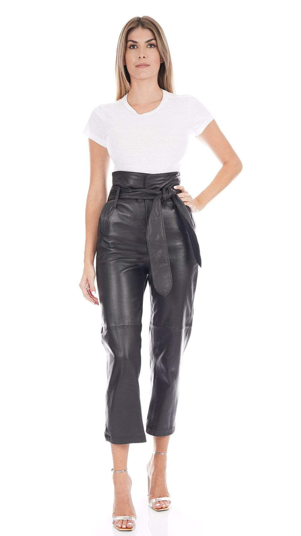 Marissa Webb Brennan Tie-Waist Leather Pants