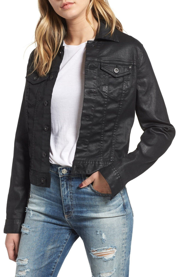 Adriano Goldschmied AG - ROBYN LACQUERED JEAN JACKET BLACK