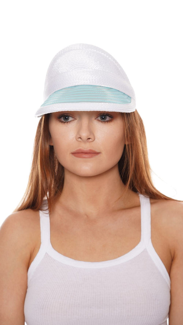 Eugenia Kim Vicky White and Blue Visor