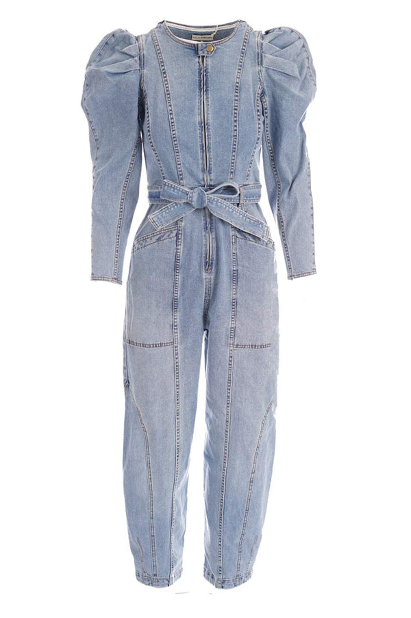 Ulla Johnson - Pascal Long Sleeve Denim Jumpsuit