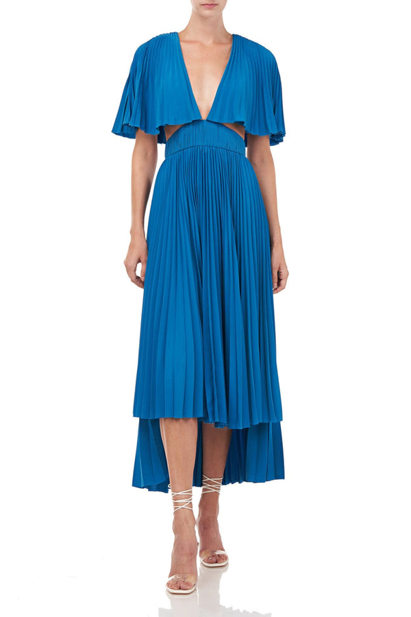 Dara Pleated Cut Out Maxi Dress
