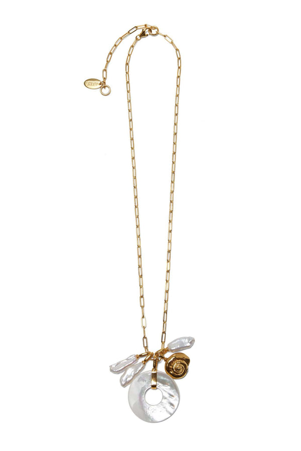 Lizzie Fortunato Deep Sea Charm Necklace