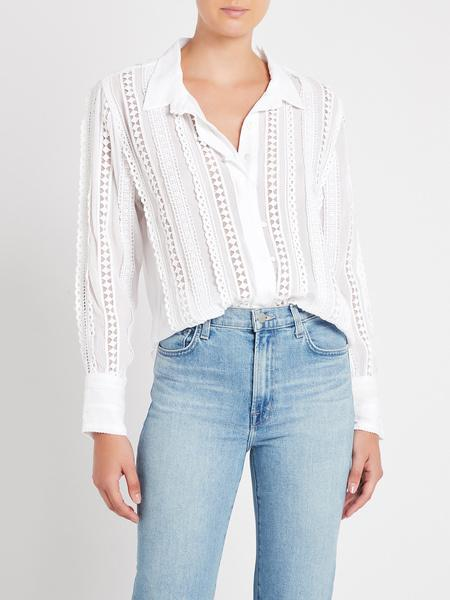 Delia Lace Button Down Blouse