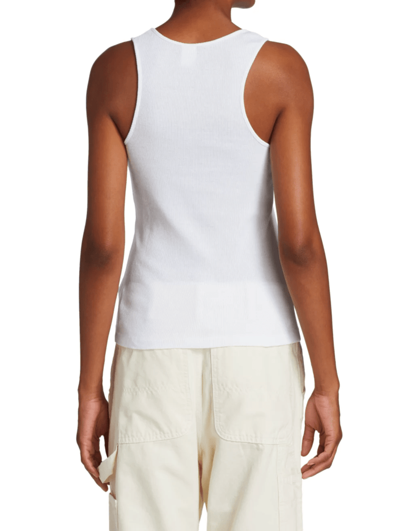RE/DONE - 90S Ribbed White Tank