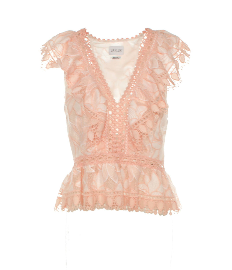 Mariacarla Embroidered Frill Top