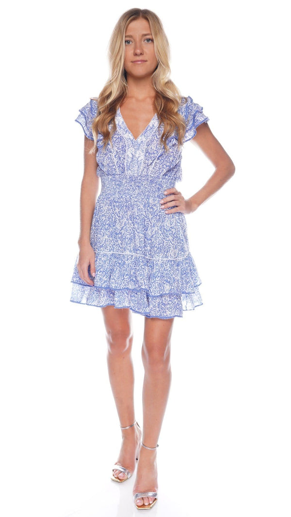 Camila Blue Canary Ruffled Mini Dress