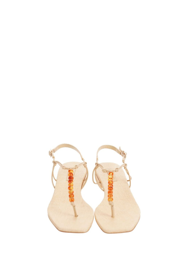 Cult Gaia - Ari Natural Beaded Sandal