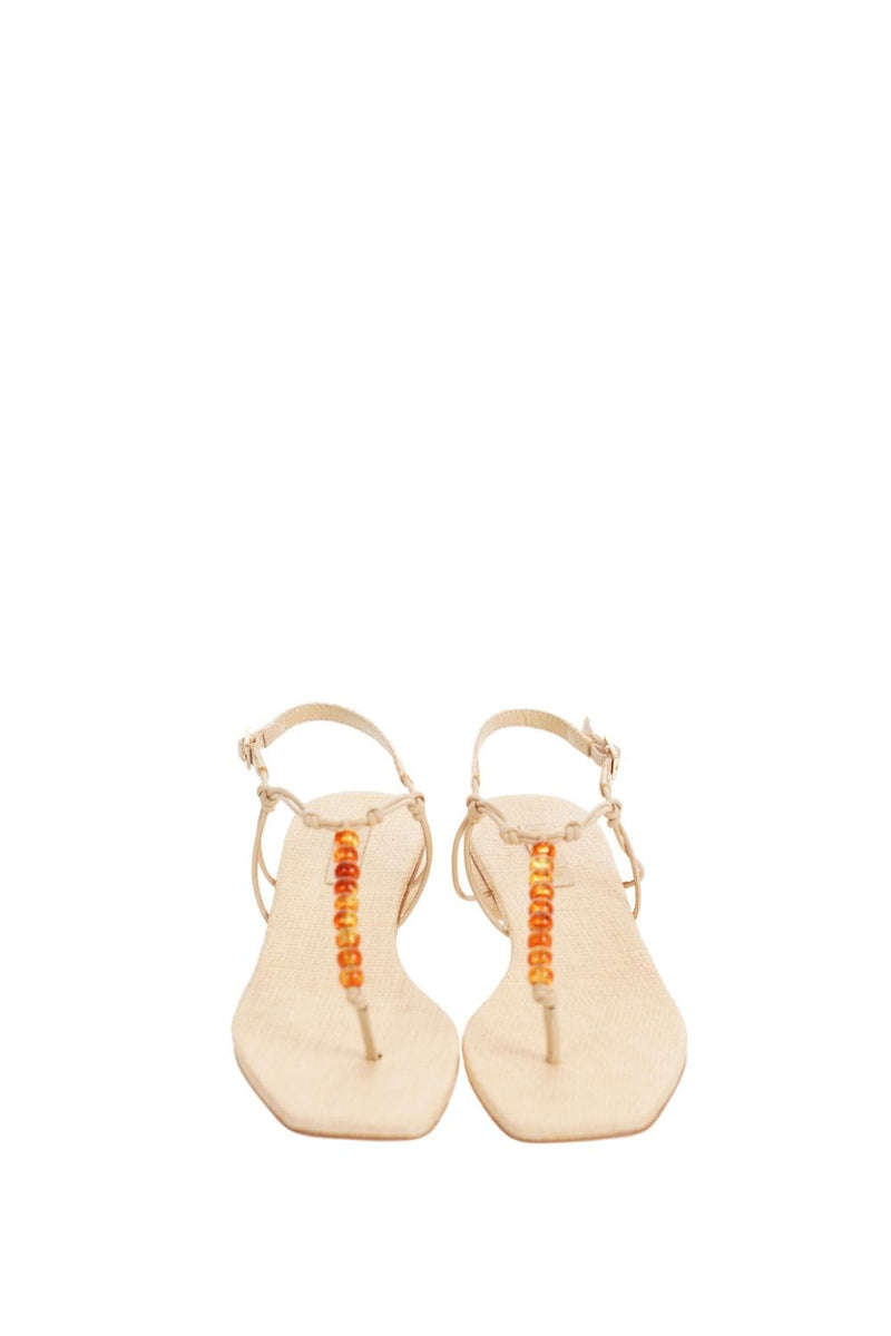 Cult Gaia Ari Natural Beaded Sandal