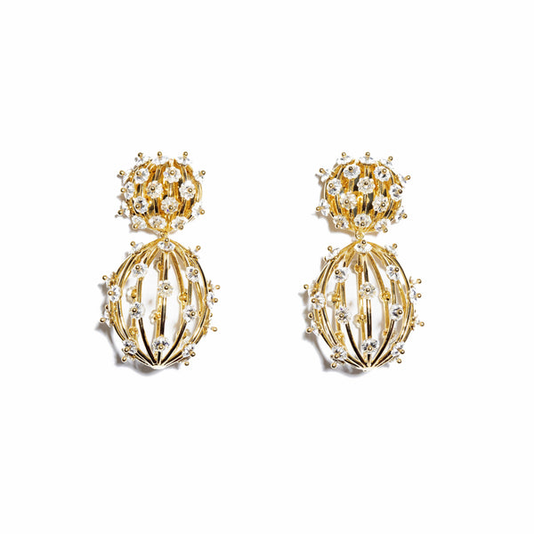 Lele Sadoughi Swarovski Birdcage Earrings