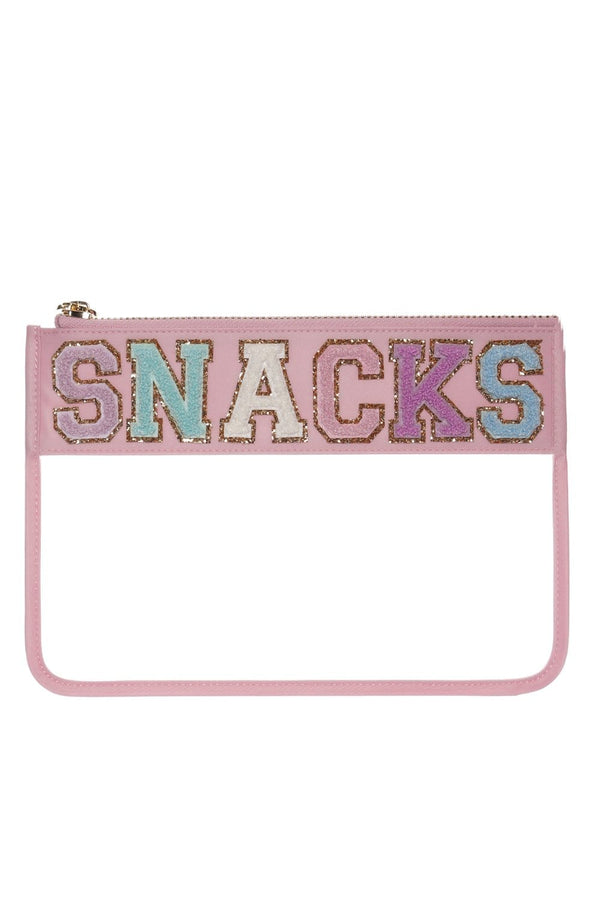 Stoney Clover Lane - Flamingo Clear Flat Pouch With SNACKS