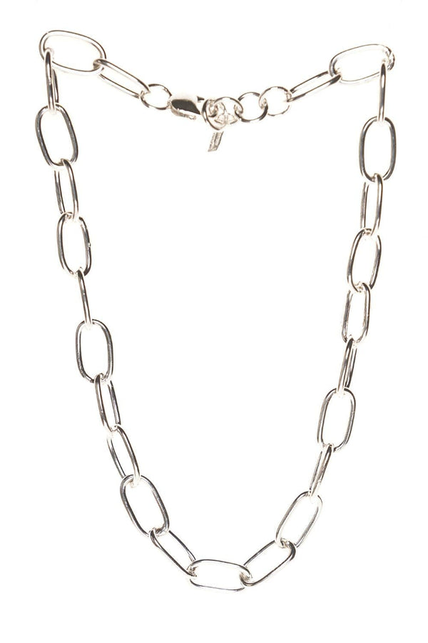Loren Stewart XXL Long Link Silver Necklace