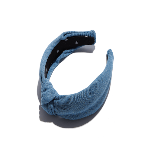Lele Sadoughi - Light Denim Knotted Headband