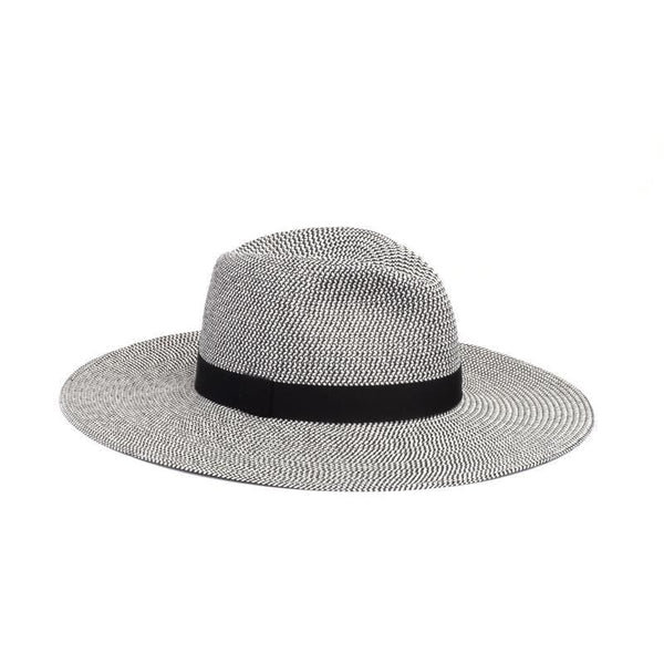 Emmanuelle Black Ribbon Wide Brim Fedora