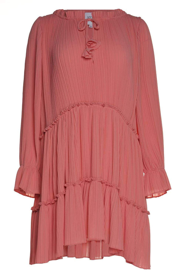 Azmina Pink Chiffon Mini Dress