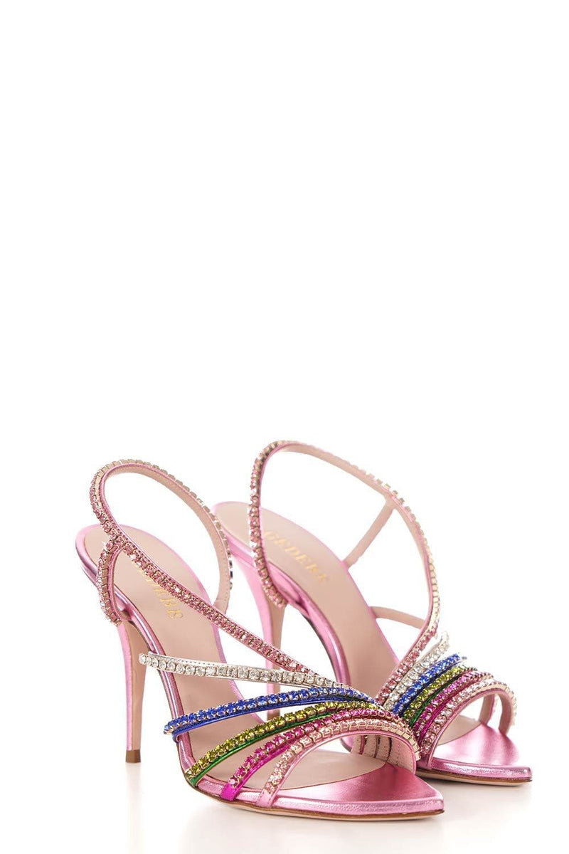 Multicolor Crystal High Heel Sandal