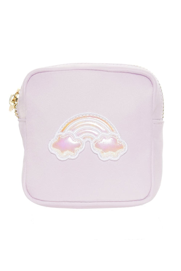 Stoney Clover Lane - Lilac Mini Pouch With Puffy Iridescent Rainbow Patch