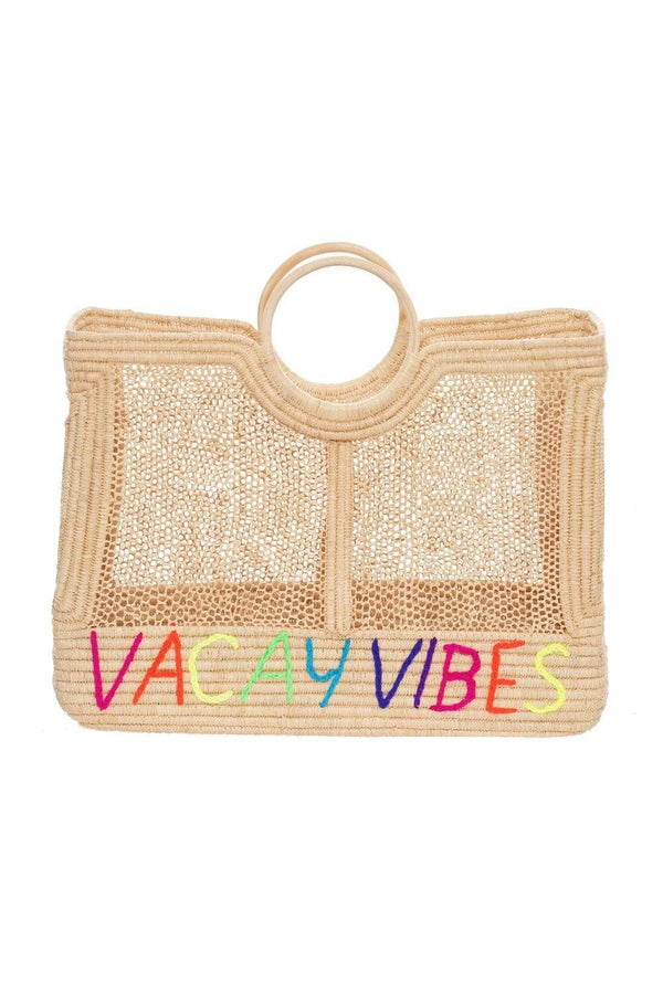 POOLSIDE - Lace Weave 'Vacay Vibes' Large Beach Tote