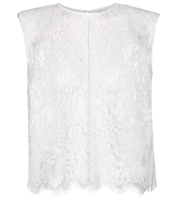 self-portrait - Guipure-Lace Sleeveless Top