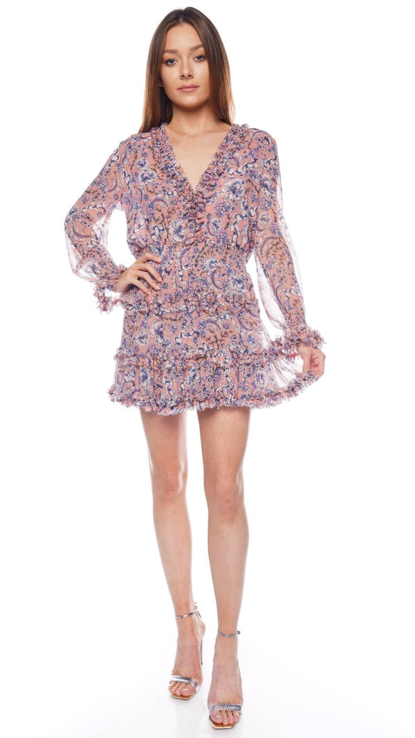 Bridget Long Sleeve Ruffled Mini Dress