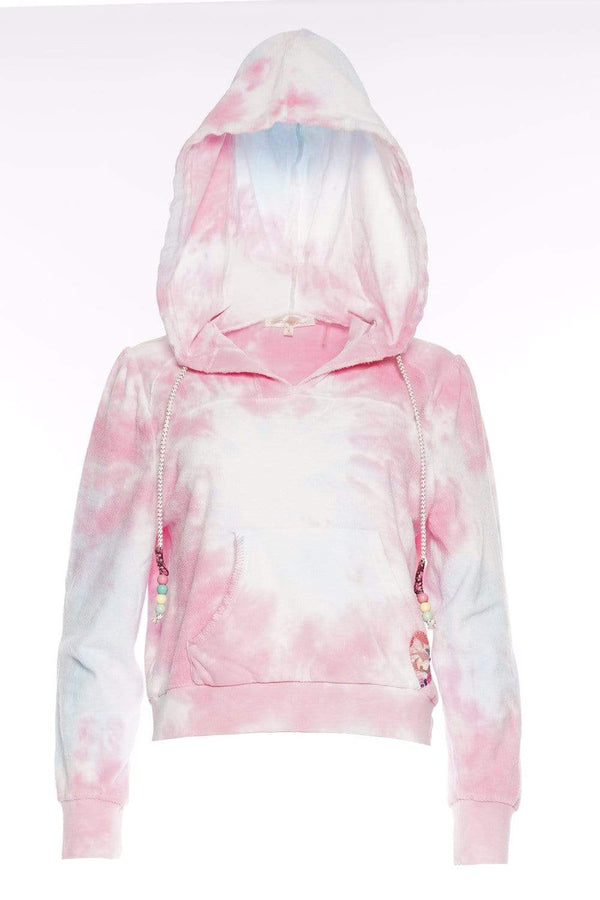 Kirbie Beaded Tie-Dyed Cotton Terry Hoodie