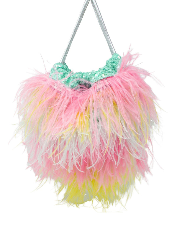 Jessy Feather Sequin Trim Bag