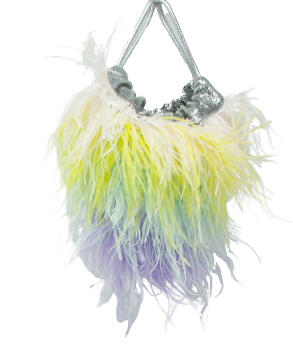 Gedebe Jessy Feather Sequin Trim Bag